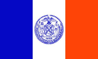 Le drapeau de la ville de New York