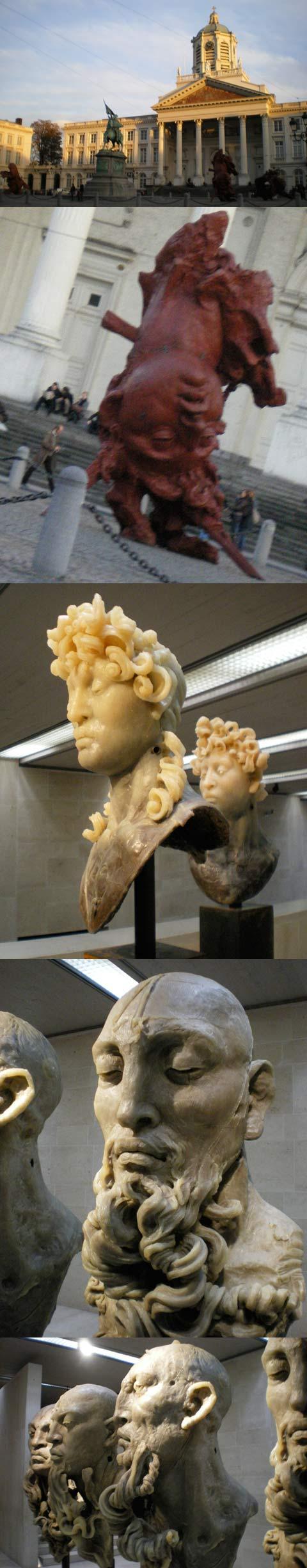 Sculptures de Javier Marin à Bruxelles