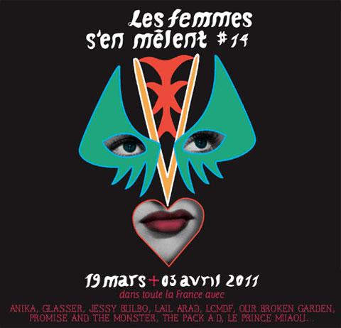 Affiche du festival Les Femmes s'en mêlent 2011