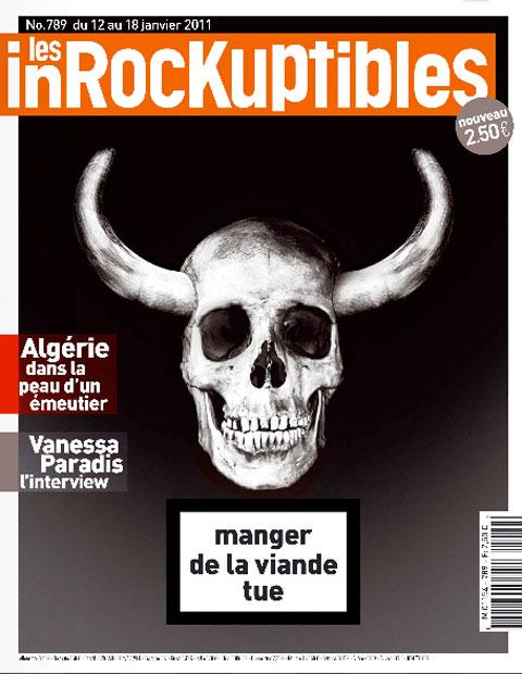 Couverture des Inrocks du 12/01/2011 : Manger de la viande tue
