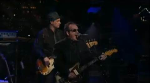 Elvis Costello live chez Letterman