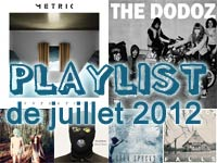 Playlist de juillet 2012