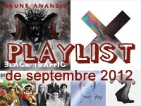 Playlist de septembre 2012