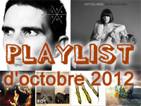 Playlist d'octobre 2012