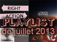 Playlist de juillet 2013