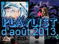 Playlist d'août 2013