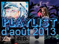 Playlist d'août 2013