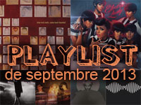 Playlist de septembre 2013