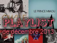 Playlist de décembre 2013