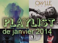 Playlist de janvier 2014