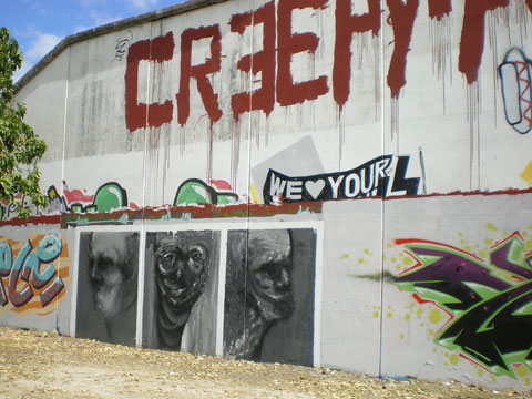 Street art à Séville - creepy