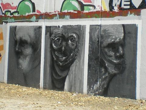 Street art à Séville - noir et blanc