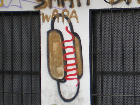 Street art à Séville - hot dog