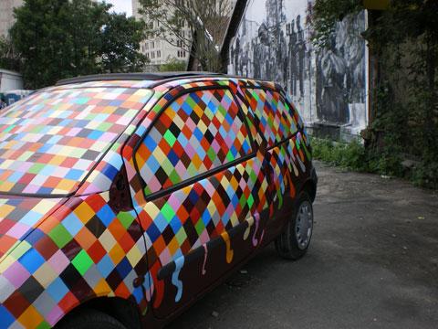 Aubervilliers - voiture carreaux