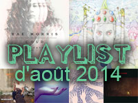 Playlist d'août 2014