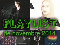Playlist de novembre 2014