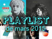 La playlist de mars 2015