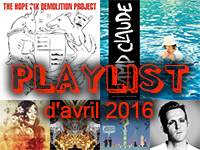 Playlist d'avril 2016