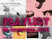 Playlist de novembre 2016