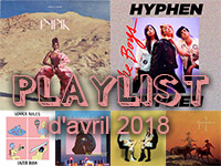 Playlist d'avril 2018