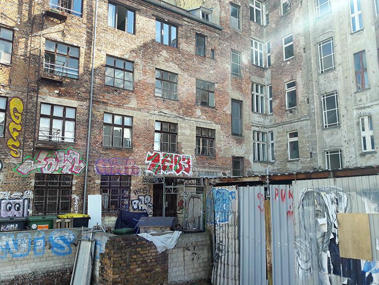 Un bâtiment délabré à Prenzlauer Berg